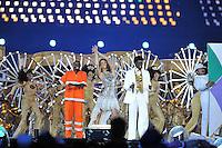 Seu Jorge.Londra 12/08/2012 Olympic Stadium.London 2012 Olympic Games Closing Ceremony.Olimpiadi Londra 2012 Cerimonia d chiusura.Foto Insidefoto Giovanni Minozzi.