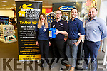 Artemida Lalka, Seamus Kelly, Greg Flood and Greg Healy (Store Manager) of Harvey Norman holding a charity fundraiser for the Peter McVerry Trust in the store in Manor West on Monday.