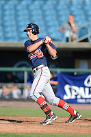 Kel Johnson (24) of Palmetto, Georgia playing for the Atlanta Braves scout team during the East Coast Pro Showcase on August 2, 2013 at NBT Bank Stadium in Syracuse, New York.  (Mike Janes/Four Seam Images)