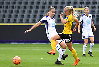 20190810 - ANDERLECHT, BELGIUM : Anderlecht's Tine De Caigny pictured in a duel with LSK's Emilie Woldvik during the female soccer game between the Belgian RSCA Ladies – Royal Sporting Club Anderlecht Dames  and the Norwegian LSK Kvinner Fotballklubb ladies , the second game for both teams in the Uefa Womens Champions League Qualifying round in group 8 , saturday 10 th August 2019 at the Lotto Park Stadium in Anderlecht  , Belgium  .  PHOTO SPORTPIX.BE for NTB NO | DAVID CATRY