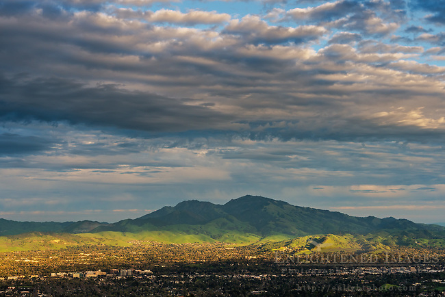Clouds over Mount Diablo, Contra Costa County, California