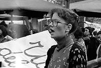 Milano: manifestazione a favore della la legge sull' aborto e per l'autodeterminazione delle donne. 21 Genn 1978.<br /> Milan: women's demonstration in favor of the law on abortion and women self-determination.  Jan 21 1978