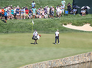 Potomac, MD - June 30, 2018: Tiger Woods (USA) walks to his birdie attempt during Round 3 at the Quicken Loans National Tournament at TPC Potomac in Potomac, MD, June 30, 2018.  (Photo by Elliott Brown/Media Images International)