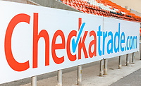 A general view of advertising boards inside Bloomfield Road<br /> <br /> Photographer Alex Dodd/CameraSport<br /> <br /> The EFL Checkatrade Trophy Northern Group C - Blackpool v West Bromwich Albion U21 - Tuesday 9th October 2018 - Bloomfield Road - Blackpool<br />  <br /> World Copyright &copy; 2018 CameraSport. All rights reserved. 43 Linden Ave. Countesthorpe. Leicester. England. LE8 5PG - Tel: +44 (0) 116 277 4147 - admin@camerasport.com - www.camerasport.com