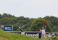Rory McIlroy (NIR) on the 13th tee during Round 2 of the 100th Open de France, played at Le Golf National, Guyancourt, Paris, France. 01/07/2016. <br /> Picture: Thos Caffrey | Golffile<br /> <br /> All photos usage must carry mandatory copyright credit   (&copy; Golffile | Thos Caffrey)