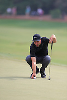 Ross Fisher (ENG) on the 18th green during the 3rd round of the DP World Tour Championship, Jumeirah Golf Estates, Dubai, United Arab Emirates. 17/11/2018<br /> Picture: Golffile | Fran Caffrey<br /> <br /> <br /> All photo usage must carry mandatory copyright credit (© Golffile | Fran Caffrey)