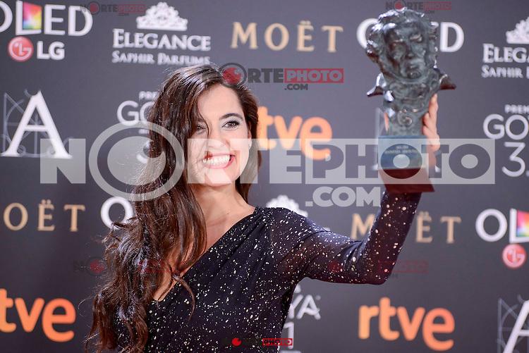 Silvia Perez Cruz pose to the media with the Goya award at Madrid Marriott Auditorium Hotel in Madrid, Spain. February 04, 2017. (ALTERPHOTOS/BorjaB.Hojas) /NORTEPHOTO.COM