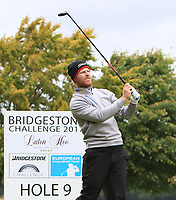 Jens Dantorp (SWE) on the 9th tee during Round 4 of the Bridgestone Challenge 2017 at the Luton Hoo Hotel Golf &amp; Spa, Luton, Bedfordshire, England. 10/09/2017<br /> Picture: Golffile | Thos Caffrey<br /> <br /> <br /> All photo usage must carry mandatory copyright credit     (&copy; Golffile | Thos Caffrey)