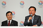 (L to R) Masato Mizuno,  Naoki Inose, <br /> September 10, 2013  : <br /> International Olympic Committee (IOC) session return home press conference <br /> in Shinjuku, Tokyo, Japan. <br /> (Photo by Daiju Kitamura/AFLO SPORT)