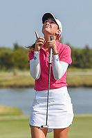 Cheyenne Knight (USA) celebrates winning the 2019 Volunteers of America Texas Classic, the Old American Golf Club, The Colony, Texas, USA. 10/6/2019.<br /> Picture: Golffile | Ken Murray<br /> <br /> <br /> All photo usage must carry mandatory copyright credit (© Golffile | Ken Murray)