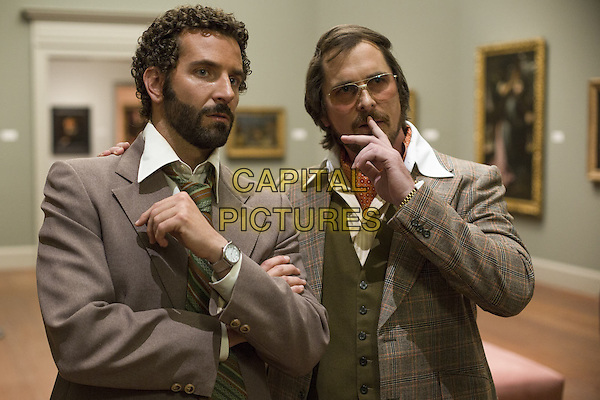 Bradley Cooper, Christian Bale<br /> in American Hustle (2013) <br /> *Filmstill - Editorial Use Only*<br /> CAP/NFS<br /> Image supplied by Capital Pictures