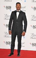 Nate Parker at the &quot;The Birth of a Nation&quot; 60th BFI London Film Festival Headline gala screening, Odeon Leicester Square cinema, Leicester Square, London, England, UK, on Tuesday 11 October 2016.<br /> CAP/CAN<br /> &copy;CAN/Capital Pictures /MediaPunch ***NORTH AND SOUTH AMERICAS ONLY***