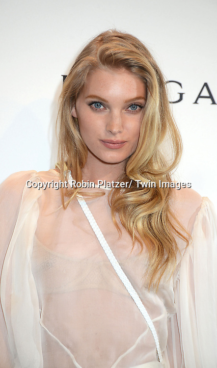 Elsa Hosk attends the amfAR New York Gala on February 5, 2014 at Cipriani Wall Street in New York City.