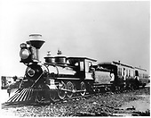 D&amp;RG locomotive #163 with passangers at Canon City.<br /> D&amp;RG  Canon City, CO  1880
