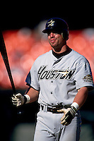 SAN FRANCISCO, CA - Jeff Bagwell of the Houston Astros in action during a game against the San Francisco Giants at Candlestick Park in San Francisco, California in 1996. Photo by Brad Mangin