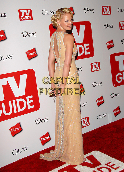 KATHERINE HEIGL.attends The 4th Annual TV Guide Post Emmy Party .held at Social in Hollywood, California, USA, .August 27, 2006..full length peach silver white beaded dress back shoulder behind.Ref: DVS.www.capitalpictures.com.sales@capitalpictures.com.©Debbie VanStory/Capital Pictures