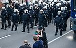"""GERMANY, Hamburg, protest rally """"G-20 WELCOME TO HELL"""" against G-20 summit in july 2017 / DEUTSCHLAND, Hamburg, Landungsbruecken, Protest Demo gegen G20 Gipfel in Hamburg"""
