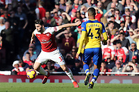 Yan Valery of Southampton and Sead Kolasinac of Arsenal during Arsenal vs Southampton, Premier League Football at the Emirates Stadium on 24th February 2019