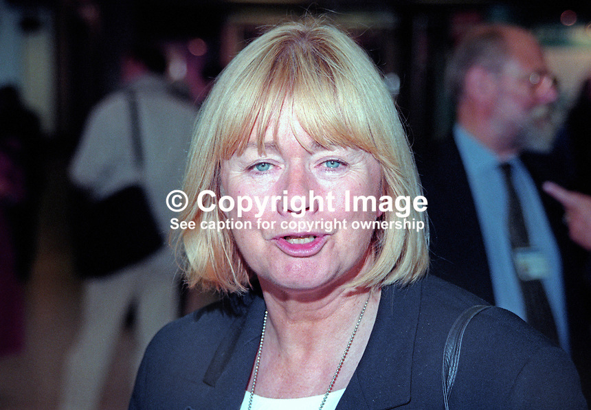 Ann Clwyd, MP, Labour Party, UK, October, 1997, 199710041<br /> <br /> Copyright Image from Victor Patterson, 54 Dorchester Park, Belfast, UK, BT9 6RJ<br /> <br /> t1: +44 28 9066 1296 (from Rep of Ireland 048 9066 1296)<br /> t2: +44 28 9002 2446 (from Rep of Ireland 048 9002 2446)<br /> m: +44 7802 353836<br /> <br /> e1: victorpatterson@me.com<br /> e2: victorpatterson@gmail.com<br /> <br /> The use of any of my copyright images is subject to my Terms &amp; Conditions.<br /> <br /> It is IMPORTANT that you familiarise yourself with them. They are available on my website, victorpatterson.com.<br /> <br /> None of my copyright images may be used on the Internet unless they are visibly watermarked, i.e. &copy; Victor Patterson within the body of the image. Metadata denoting my copyright must NOT be deleted. <br /> <br /> Web use is extra at currently recommended NUJ rates.