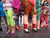 21-25 April 2008, London/UK, Alternative Fashion Week 2008 at Spitalfields Market. Fashion for Big Girls from Cholchester School of Art & Design. (Photo: Bettina Strenske)