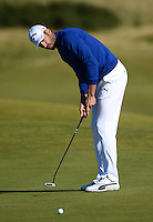 Alvaro Quiros of Spain putts during Round 1 of the 2015 Alfred Dunhill Links Championship at the Old Course, St Andrews, in Fife, Scotland on 1/10/15.<br /> Picture: Richard Martin-Roberts | Golffile