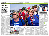Helsingin Sanomat (leading Finnish daily) on Finnish Formula 1 fans at Hungaroring, August 2019<br />