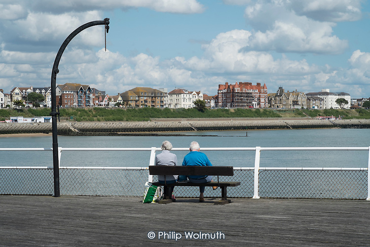 Holiday-makers on Clacton Pier. The resort is the second most deprived seaside town in the UK.