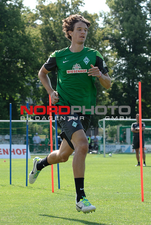 23.07.2013, Sportplatz, Blankenhain, GER, 1.FBL, Trainingslager Werder Bremen 2013, im Bild Mateo Pavlovic (Bremen #4)<br /> <br /> Foto &not;&copy; nph / Frisch