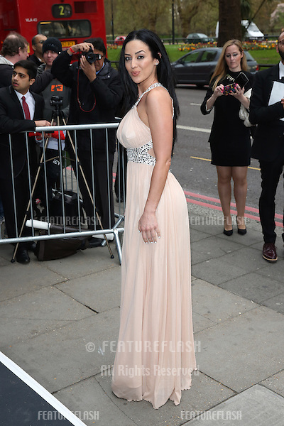 Sofia Hayat at The Asian Awards 2014 held at Grosvenor House Hotel, London. 04/04/2014 Picture by: Henry Harris / Featureflash