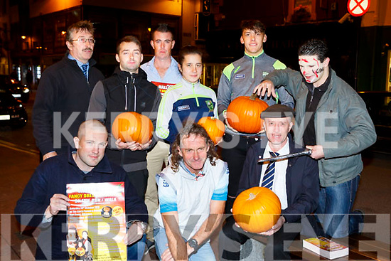 Killarney Halloween 5K which will be held on the 28th October was launched in Killarney on Friday night front row l-r: Darragh Scannell, John Lenihan, Michael Healy-Rae, Cian Scannell. Back row: Ken O'Dea, Billy O'Dea, Patrick Looney Fiadhna Tangney and David Clifford