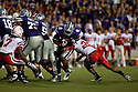 October 07, 2010: Kansas State running back Daniel Thomas (8) being stopped by Nebraska defensive back Eric Hagg (28) at the Bill Snyder Family Stadium in Manhattan, Kansas.  Nebraska defeated Kansas State 48 to 13.