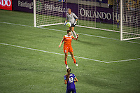 Orlando, FL - Thursday June 23, 2016: Cari Roccaro during a regular season National Women's Soccer League (NWSL) match between the Orlando Pride and the Houston Dash at Camping World Stadium.