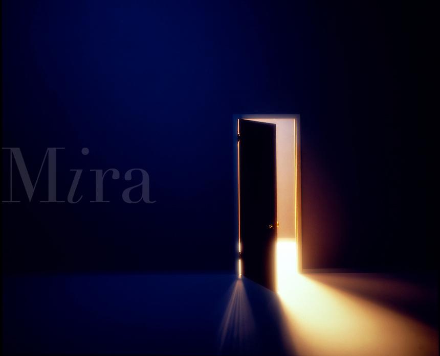 Open door with light.