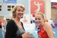 VOLLEYBAL: SNEEK: 12-11-2014, Sneker Sporthal, Europese wedstrijd om de Challenge Cup, uitslag 3-2, Martje de Vries en haar dochter Roos van Wijnen, ©foto Martin de Jong