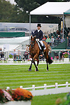 Ben Hobday [GBR] riding Mulrys Error during the Dressage phase of the 2014 Land Rover Burghley Horse Trials held at Burghley House, Stamford, Lincolnshire