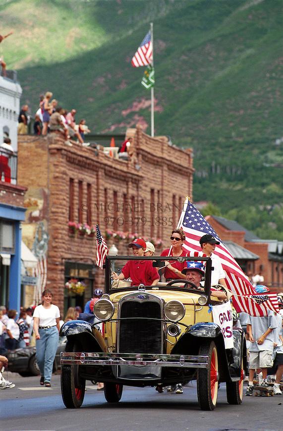 4th of July parade. Aspen, Colorado. © Michael Brands. 970-379-1885.