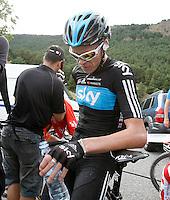 Christopher Froome after the stage of La Vuelta 2012 between Lleida-Lerida and Collado de la Gallina (Andorra).August 25,2012. (ALTERPHOTOS/Acero) /NortePhoto.com<br /> <br /> **CREDITO*OBLIGATORIO** <br /> *No*Venta*A*Terceros*<br /> *No*Sale*So*third*<br /> *** No*Se*Permite*Hacer*Archivo**<br /> *No*Sale*So*third*