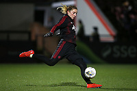 Siobhan Chamberlain of Manchester Utd warms up during Arsenal Women vs Manchester United Women, FA WSL Continental Tyres Cup Football at Meadow Park on 7th February 2019