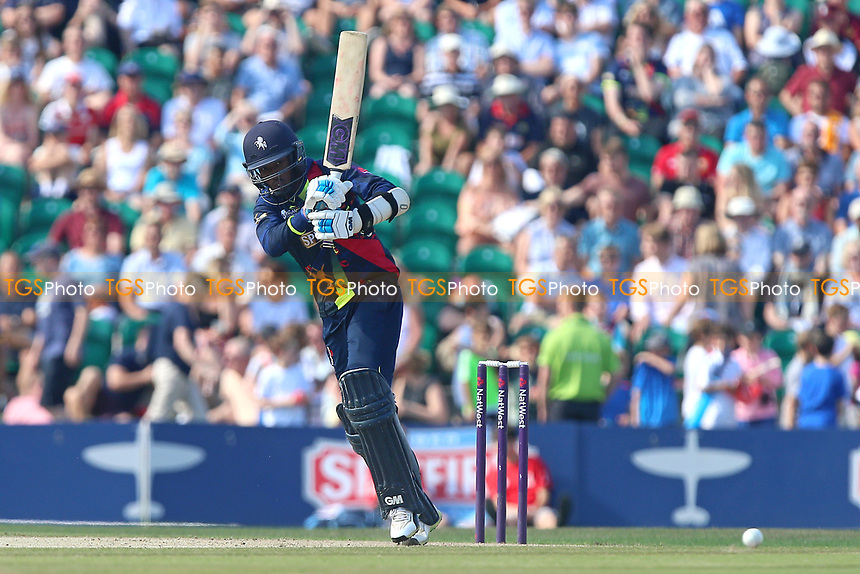 Daniel Bell-Drummond in batting action for Kent during Kent Spitfires vs Essex Eagles, NatWest T20 Blast Cricket at The County Ground on 9th July 2017