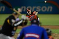 Ryan Verdugo ,pitcher de naranjeros , durante el juego de beisbol de Naranjeros vs Cañeros durante la primera serie de la Liga Mexicana del Pacifico.<br /> 15 octubre 2013