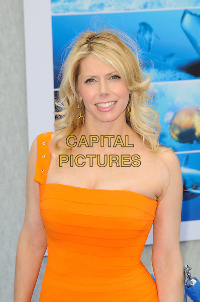 "MICHELLE HARRIS.Arrivals - Disneynature's Premiere Of ""Oceans"" held At El Caitan Theatre, Hollywood, California, USA..17th April 2010.half length orange one shoulder dress.CAP/ROT.©Lee Roth/Capital Pictures"
