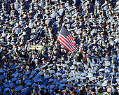 United States Army Cadets wave an American flag prior to the 112th meeting of the U.S. Army Black Knights and the U.S. Navy Midshipmen at FedEx Field in Landover, Maryland on Saturday, December 10, 2011..Credit: Ron Sachs / CNP