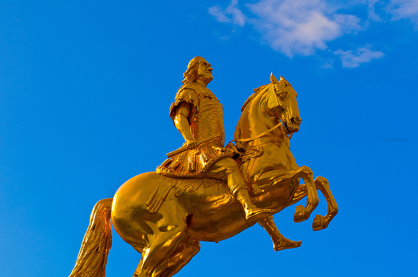 """The Golden Rider"" statue (August the Strong), Dresden, Saxony, Germany"