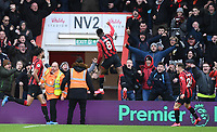 29th February 2020; Vitality Stadium, Bournemouth, Dorset, England; English Premier League Football, Bournemouth Athletic versus Chelsea; Jefferson Lerma of Bournemouth celebrates scoring in 54th minute for 1-1