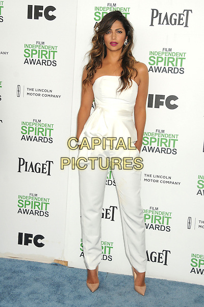 1 March 2014 - Santa Monica, California - Camila Alves. 2014 Film Independent Spirit Awards - Arrivals held at Santa Monica Beach. <br /> CAP/ADM/BP<br /> &copy;Byron Purvis/AdMedia/Capital Pictures