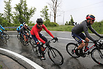 The peloton climb over the Appenines and into Tuscany during a wet Stage 2 of the 2019 Giro d'Italia, running 205km from Bologna to Fucecchio, Italy. 12th May 2019.<br /> Picture: Eoin Clarke | Cyclefile<br /> <br /> All photos usage must carry mandatory copyright credit (© Cyclefile | Eoin Clarke)