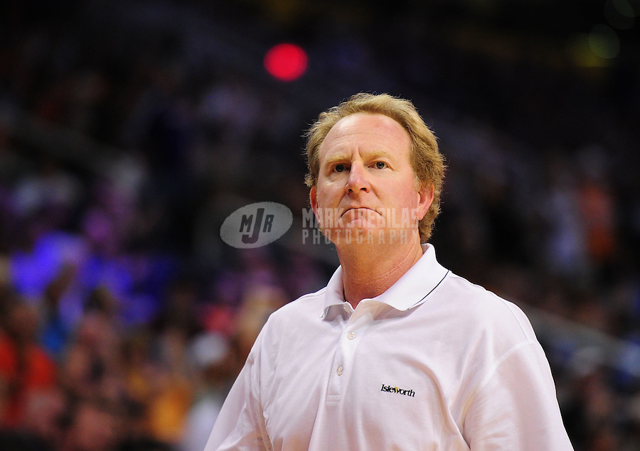 Mar. 27, 2011; Phoenix, AZ, USA; Phoenix Suns owner Robert Sarver against the Dallas Mavericks at the US Airways Center. The Maverick defeated the Suns 91-83. Mandatory Credit: Mark J. Rebilas-
