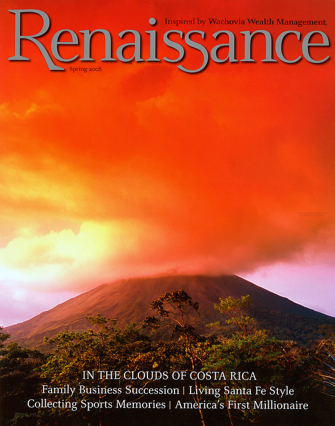 Renaissance Magazine-Arenal Volcano erupting, Costa Rica