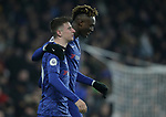Chelsea's Mason Mount (L) celebrates after he scores to make it 2-1 during the Premier League match at Stamford Bridge, London. Picture date: 4th December 2019. Picture credit should read: Paul Terry/Sportimage