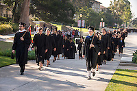To the rhythmic thumps of taiko drummers, 508 members of the Class of 2020 trooped into Thorne Hall on Aug. 30, 2016 for Occidental College's 129th Convocation ceremony, a tradition that formally marks the start of the academic year and welcomes the new class. Trustees, faculty and staff welcomed the incoming class.<br /> (Photo by Marc Campos, Occidental College Photographer)